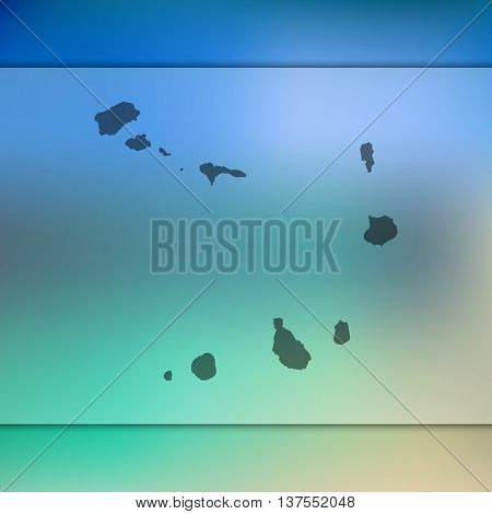 Cape-Verde map on blurred background. Blurred background with silhouette of Cape-Verde. Cape-Verde. Cape-Verde map.