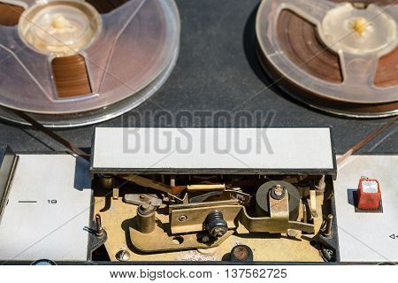 Recording Tape Is Inserted In Mechanical Guides