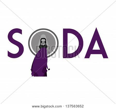 Soda and drink  concept represented by can icon. isolated and flat illustration