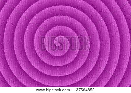 Illustration of a purple colored mosaic spiral
