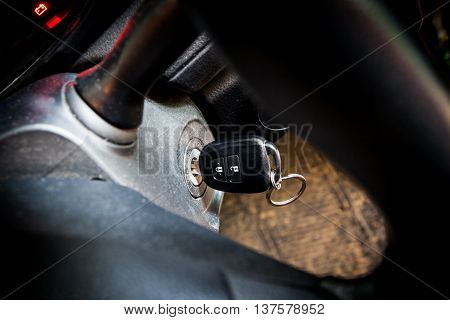 Car Keys In Ignition