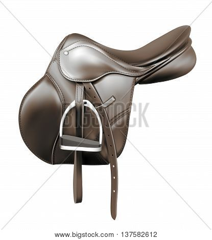 continental black leather equestrian sport universal saddle