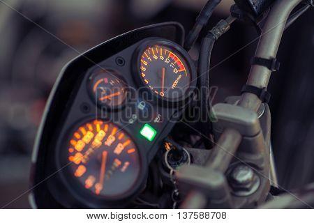 Illuminated Motorbike Control Panel
