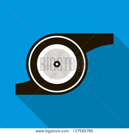 Turbocharger icon in flat style on a sky blue background