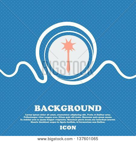 Mace Sign Icon. Blue And White Abstract Background Flecked With Space For Text And Your Design. Vect