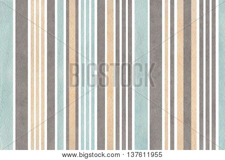 Watercolor Beige, Gray And Blue Striped Background.