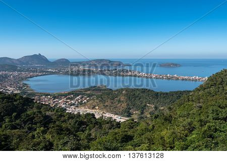 Aerial view of Oceanica Region in Niteroi City, Brazil