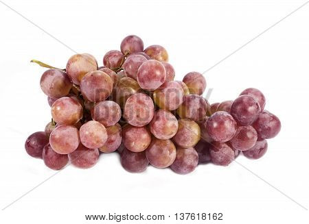 The eautiful grapes isolated on white background