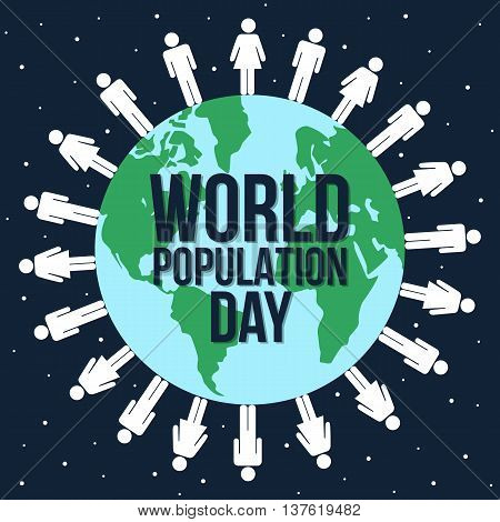 World population day illustration vector graphic design