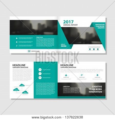 Green triangle Abstract Vector annual report Leaflet Brochure Flyer template design book cover layout design abstract business presentation template a4 size design