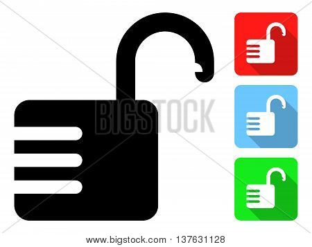 Open Combination Lock. Vector Illustration Of A Open Combination Lock With It's Color Variations