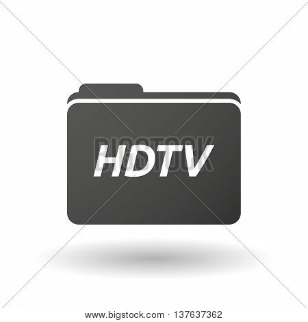 Isolated Folder Icon With    The Text Hdtv