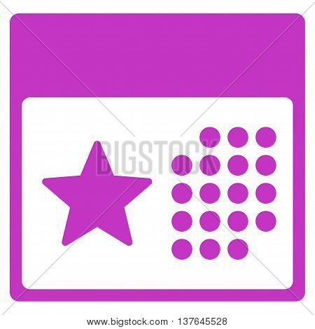 Holiday Syllabus vector icon. Style is flat symbol, violet color, rounded angles, white background.