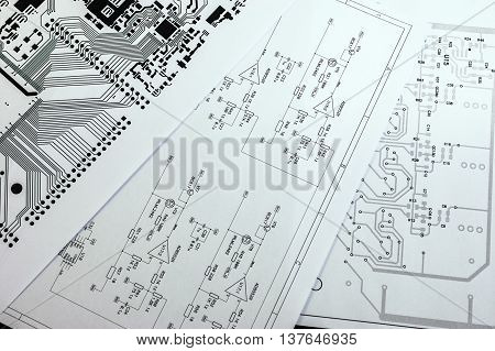 Schematic Diagram. Project Of Electronic Circuit