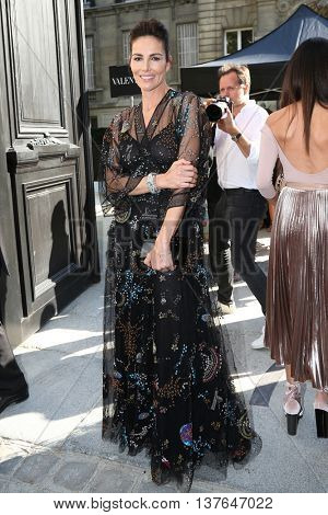 PARIS, FRANCE - JULY 06: Adriana Abascal  attends the Valentino Haute Couture Fall/Winter 2016-2017 show as part of Paris Fashion Week. Outside arrivals.