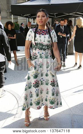 PARIS, FRANCE -JULY 06: Princess of Thailand Siriwanwaree Nareerat attends the Valentino Haute Couture Fall/Winter 2016-2017 show of Paris Fashion Week.Outside arrivals. July 6, 2016, Paris, France
