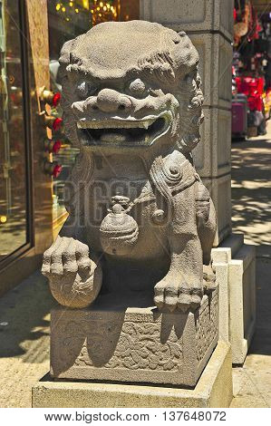 This is photo of a chinese statue,
