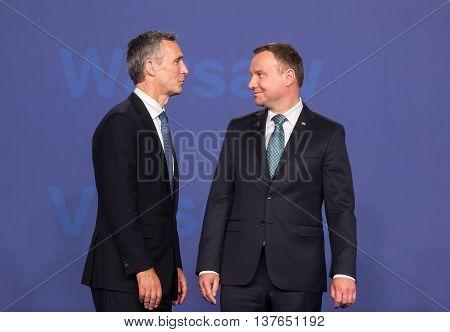 Jens Stoltenberg And Andrzej Duda