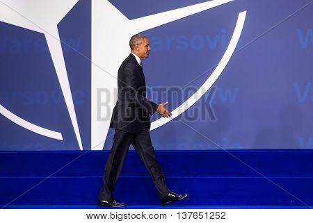 Us President Barack Obama At The Nato Summit In Warsaw
