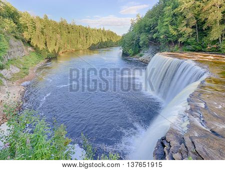 Upper Tahquamenon Falls in Tahquamenon Falls State Park, near Paradise, Michigan.