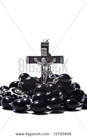 Catholic Rosary With Crucifix Isolated