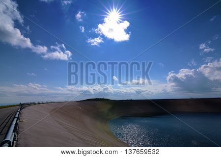 Jeseniky mountains in nice summer day with white cloud