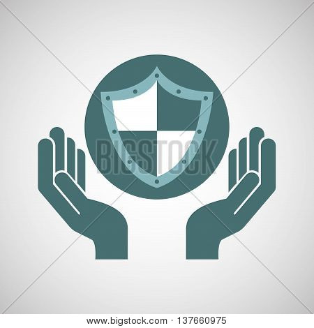 ensure protection insurance risk isolated, vector illustration