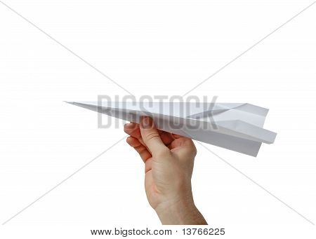 Hand Holding A Paper Plane