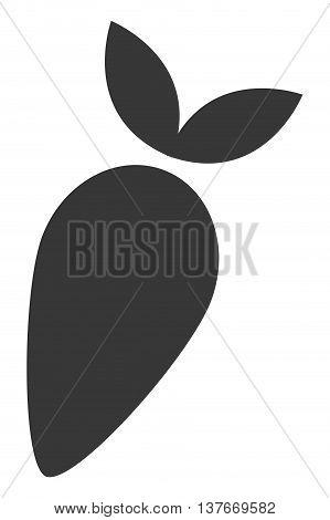 simple flat design whole turnip icon vector illustration silhouette