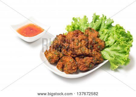 Thai Food Thai Fried Fish Cake Called Tod Mun Pla