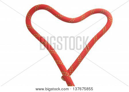 Red Rope For Safety And Security In Sport Climbing
