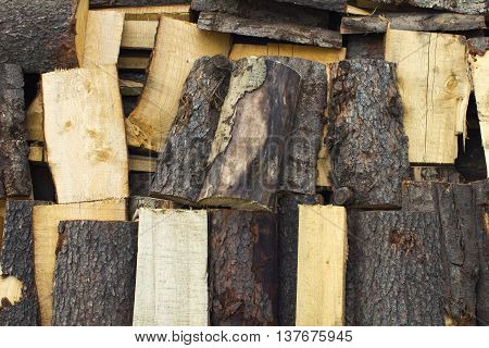 woodpile chopped pine heap firewood background texture
