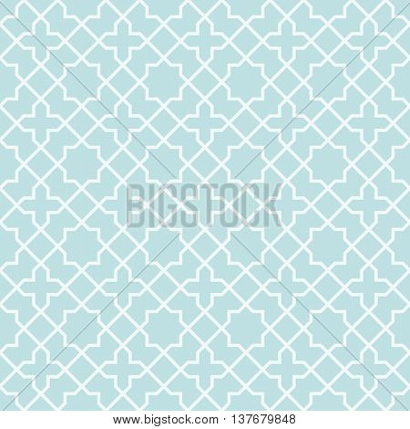 Symmetry line Geometric seamless pattern, cyan background