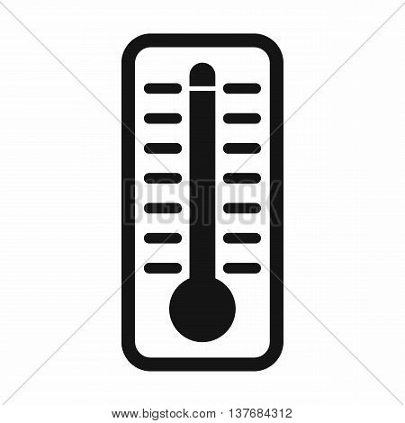 Thermometer indicates extremely high temperature icon in simple style isolated vector illustration