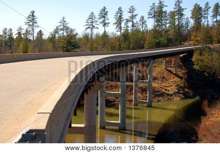 Winding Bridge Through The Mountains
