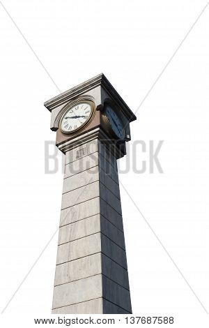 Stock Photo - clock tower on isolated background