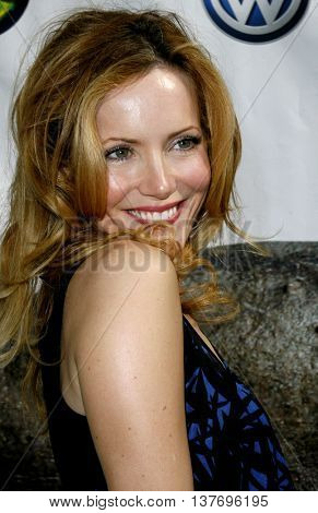 Leslie Mann at the World premiere of 'Evan Almighty' held at the Universal Citywalk in Universal City, USA on June 10, 2007.