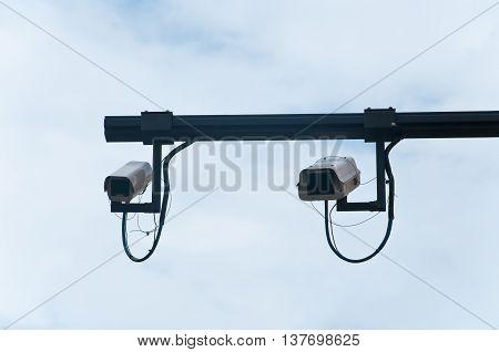 cameras that control the car access into forbidden areas