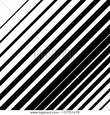 Dynamic Diagonal Lines Pattern. Parallel Straight Lines With Irregular Width. Gradation, Halftone Ba