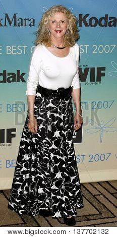 Blythe Danner at the Women In Film Presents The 2007 Crystal and Lucy Awards held at the Beverly Hilton Hotel in Beverly Hills, USA on June 14, 2007.