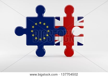 Symbol Of Good Relations Between England And The Eu