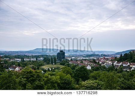 panorama View of the city of Stuttgart in Germany