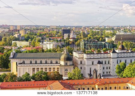Cathedral Square In Vilnius Of Lithuania