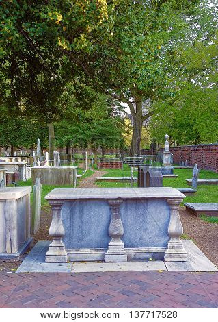 Graveyard At Christ Church Burial Ground