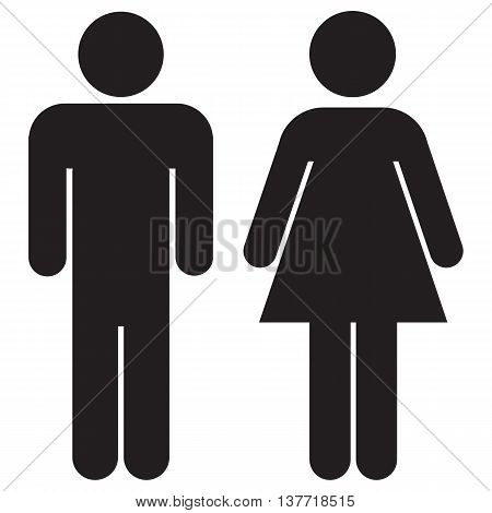 Woman and man icons vector illustration computer icon women