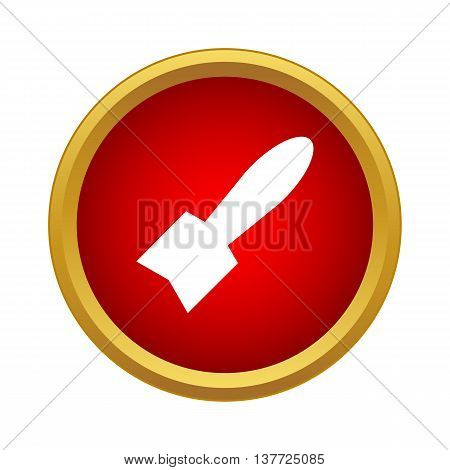 Air bomb icon in simple style on a white background