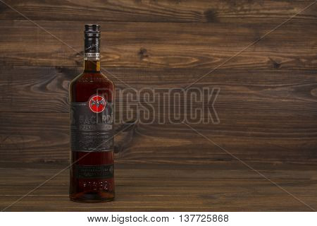 READING MOLDOVA APRIL 8. 2016 Photo of bottle of