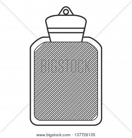 simple flat design hot water bottle icon vector illustration