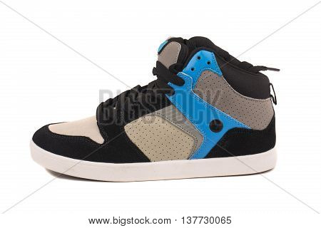 sport shoes on white background. sport athletic activity shoes on white background