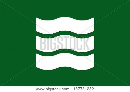 Japan Hiroshima prefecture Hiroshima city flag illustration